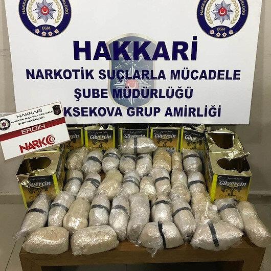 Zeytin tenekelerinin içerisinde 15 kilo 929 gram eroin ele geçirildi
