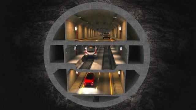 3 Katlı Büyük İstanbul Tünel Projesi