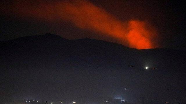İsrail Suriye'deki İran hedeflerine havadan saldırdı