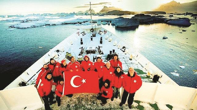 2016 yılının Nisan ayında Antarktika'ya giden 13 Türk bilim insanı Ukrayna'ya ait Vernadsky Üssü ve civarındaki 50 millik alanda Türk bayrağını dalgalandırarak araştırmalarda bulunmuştu.