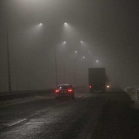 Ilgaz Dağı'nda ulaşıma sis engeli