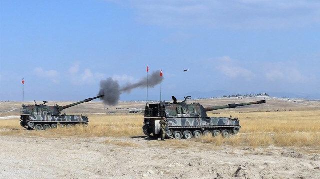 TSK terör örgütü YPG/PKK hedeflerini obüslerle vurdu