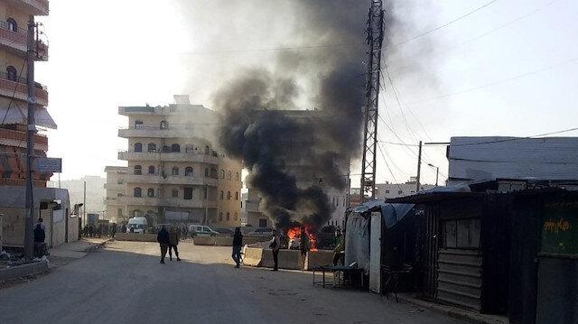 Afrin'de bomba yüklü araç infilak etti.