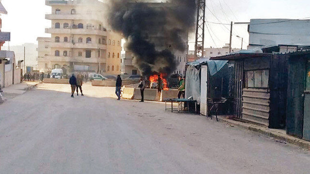 Afrin'de sivillere bomba