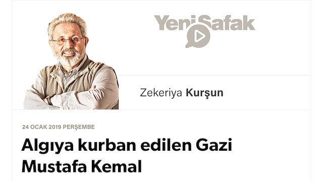 Algıya kurban edilen Gazi Mustafa Kemal