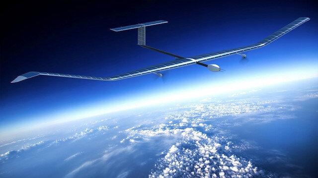 Zephyr isimli drone projesi güneş enerjisiyle çalışıyor.
