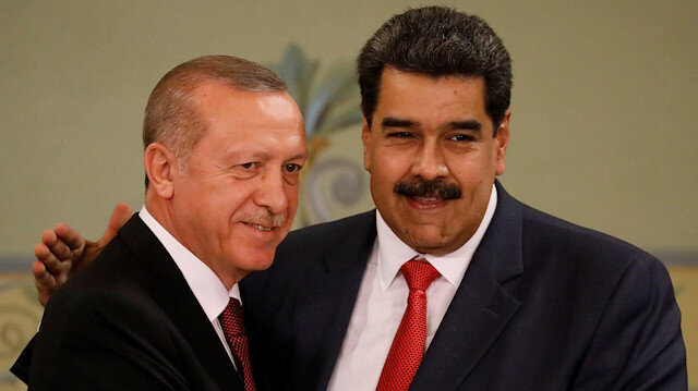 File photo: Turkish President Tayyip Erdoğan and Venezuela's President Nicolas Maduro