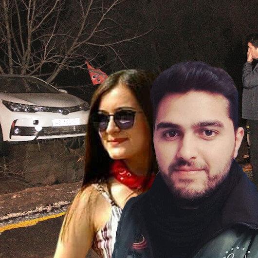 Bodrum'da nişanlı çift sele kapıldı