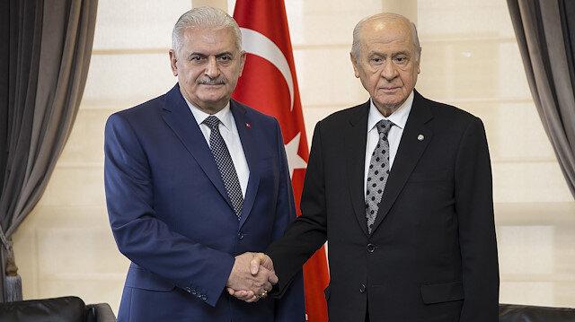 MHP lideri Bahçeli, TBMM Başkanı Yıldırımı ziyaret etti