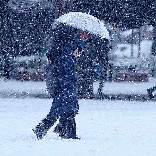 7 ile kar yağışı uyarısı