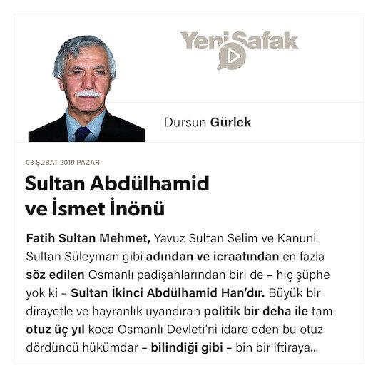 Sultan Abdülhamid ve İsmet İnönü