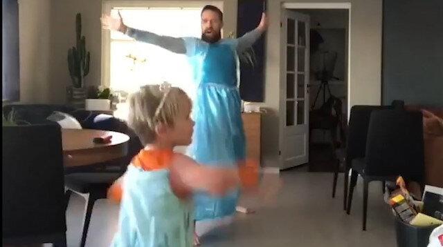Babayla oğlundan muhteşem dans gösterisi