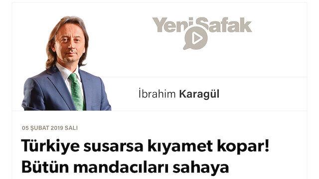 * Türkiye susarsa kıyamet kopar! * Bütün mandacıları sahaya sürdüler * Sığınmak esarettir, yağma ve talandır