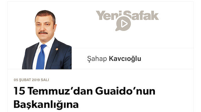 15 Temmuz'dan Guaido'nun Başkanlığına