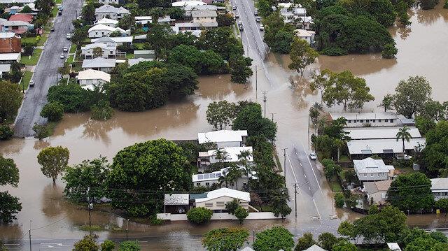 Avustralya'da sel felaketinde çok sayıda ev su altında kalmıştı.