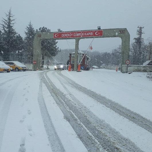 Kar yağışı Trakya'ya giriş yaptı