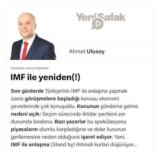 IMF ile yeniden(!)