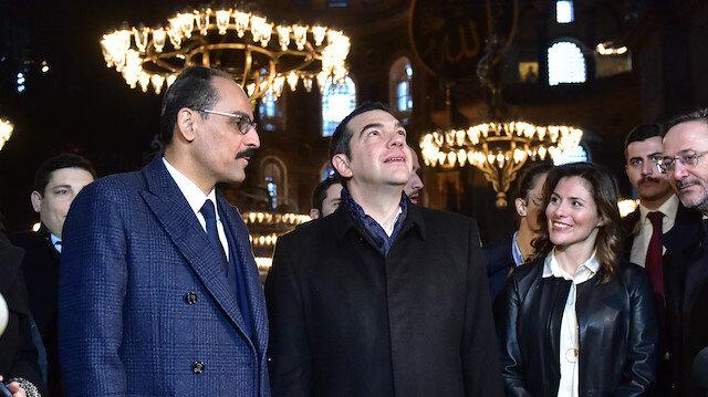 Yunanistan Başbakanı Çipras'dan Ayasofya ziyareti