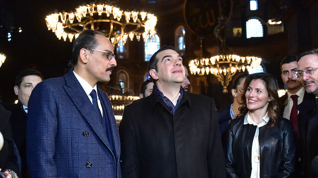 Yunanistan Başbakanı Çiprasdan Ayasofya ziyareti