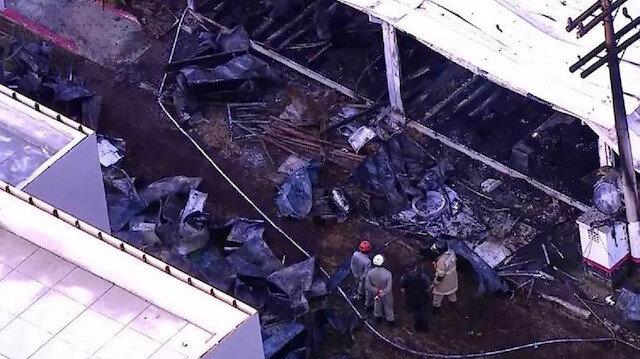 Yangın sonrası tesis kullanılamaz hale geldi.
