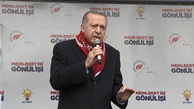 Sivas mitinginde Erdoğanı kızdıran olay