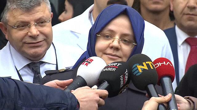 Aile ve Sosyal Politikalar Bakanı Selçuk yaralıları ziyaret etti