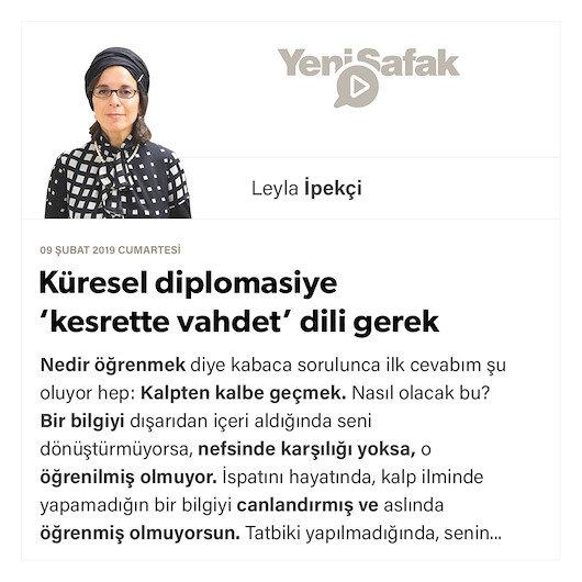 Küresel diplomasiye 'kesrette vahdet' dili gerek