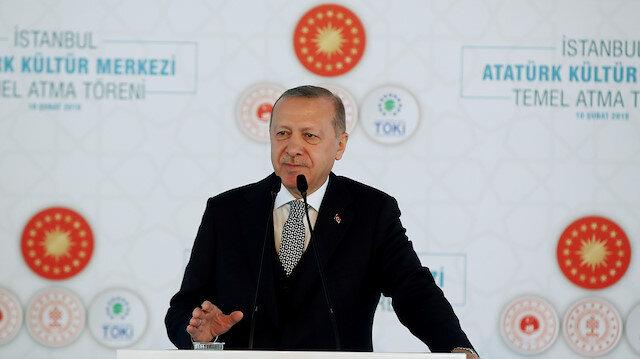 Erdoğan AKM temel atma töreninde konuştu