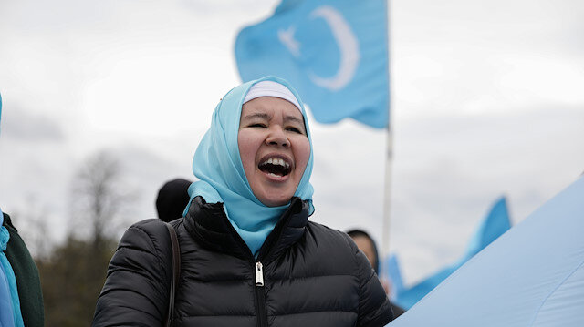 Uyghurs protest against China in Washington
