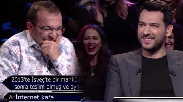 Kim Milyoner Olmak İster'e katılan Gaziantepli yarışmacı stüdyoyu kahkahaya boğdu