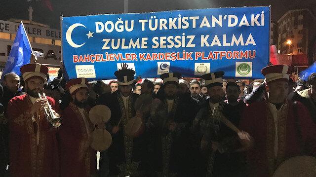 Bahçelievler Kardeşlik Platformu'ndan protesto.