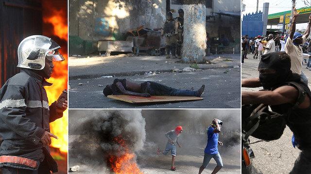 Haiti'de yolsuzluk protestoları sürüyor. (Reuters)