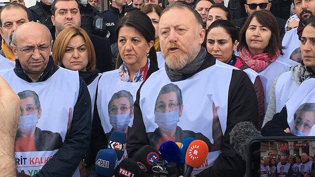 Yürüyüş yapmak isteyen HDP'li vekiller.