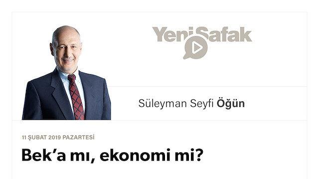 Bek'a mı, ekonomi mi?