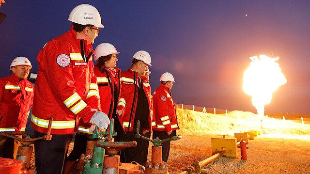 Tekirdağ'ın Kapaklı ilçesinde bulunan doğal gazın görüntüleri ortaya çıkmıştı.