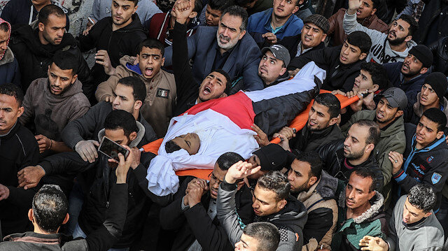 Funeral ceremony of a Palestinian in Gaza