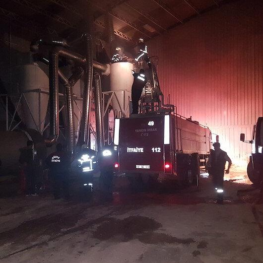 Düzce'de fabrika yangınında maddi hasar oluştu
