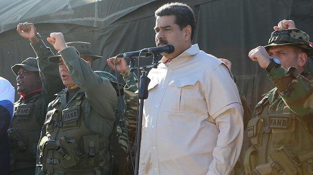 Venezuela Devlet Başkanı Maduro, ordunun tatbikatı öncesi konuştu.