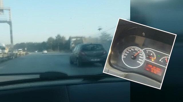 İstanbul'da hafriyat kamyonu terörü: Otomobilleri solladılar!