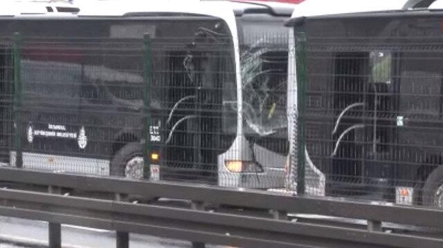 İstanbul'da metrobüsler çarpıştı: 1 yaralı