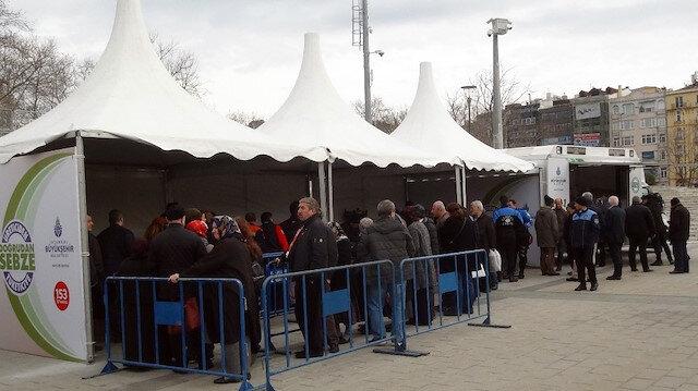 Taksim Meydanına tanzim satış noktası kuruldu