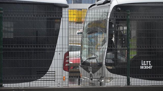 Beylikdüzünde metrobüs kazası