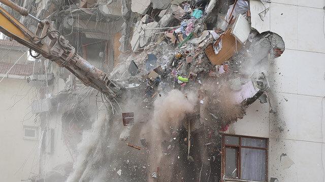 Yunus Apartmanının yıkımında son durum