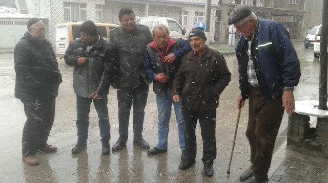 Malkara'da kar yağışı etkili oldu.