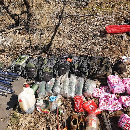 Şırnak'ta PKK operasyonu: Çok sayıda yaşam malzemesi ele geçirildi