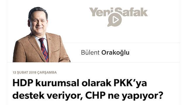 HDP kurumsal olarak PKK'ya destek veriyor, CHP ne yapıyor?