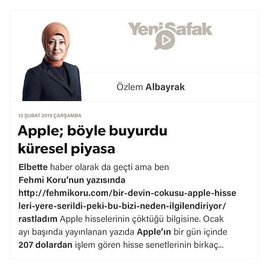 Apple; böyle buyurdu küresel piyasa