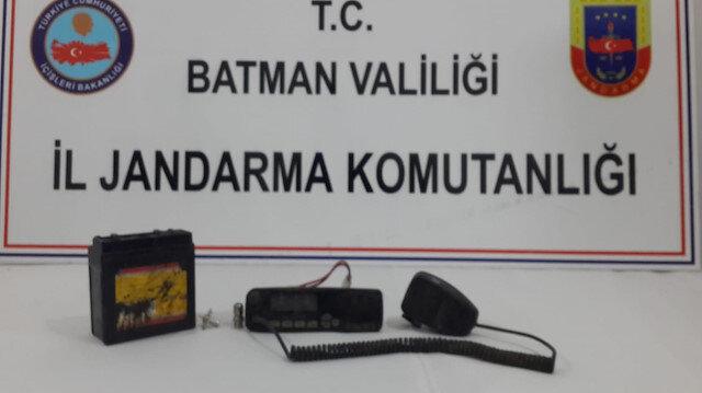 PKK'lı teröristlere ait telsiz
