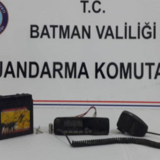 Batman'da PKK'lı üst yöneticiye ait telsiz bulundu