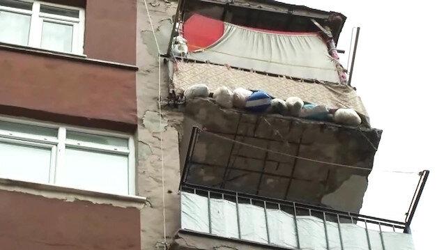 Bahçelievlerde 7 katlı bir bina yıkılma tehlikesi nedeniyle boşaltıldı